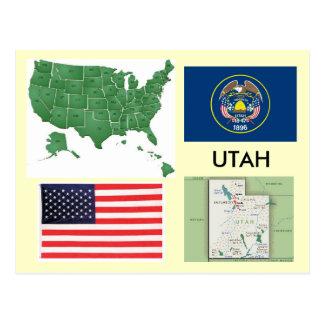 Carte Postale L'Utah, Etats-Unis