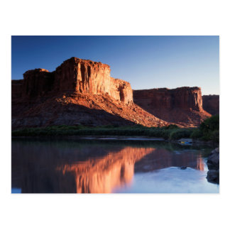 Carte Postale L'Utah, MESA d'A se reflétant dans le fleuve