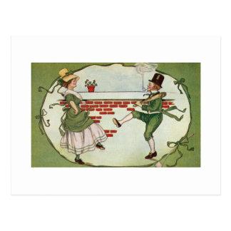 Carte Postale Lutins dans l'amour