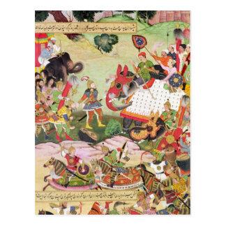 Carte Postale Luttez entre les forces de Perse et Turan