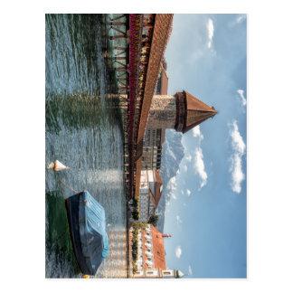 Carte Postale Luzerne de pont de chapelle, Suisse