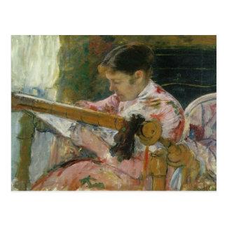Carte Postale Lydia à un métier à tisser de tapisserie, Mary