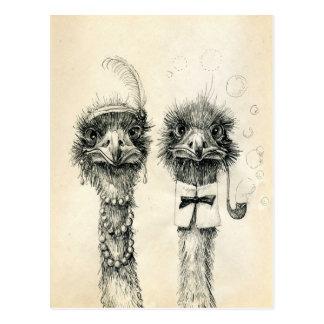Carte Postale M. et Mme Ostrich