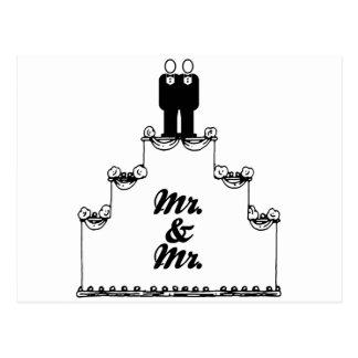 CARTE POSTALE M. LESBIEN DE GÂTEAU DE MARIAGE ET M. - - - .PNG