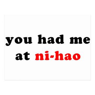 Carte Postale m'a eu chez Ni-Hao