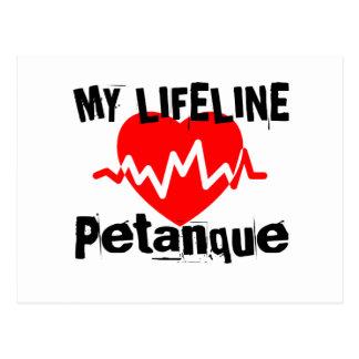 Carte Postale Ma ligne de vie Petanque folâtre des conceptions