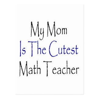 Carte Postale Ma maman est le professeur de maths le plus mignon