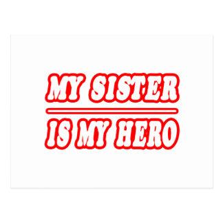 Carte Postale Ma soeur est mon héros