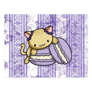 Carte Postale Macaron Kitty