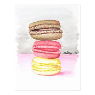 Carte Postale Macarons