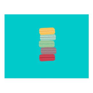 Carte Postale macarons colorés