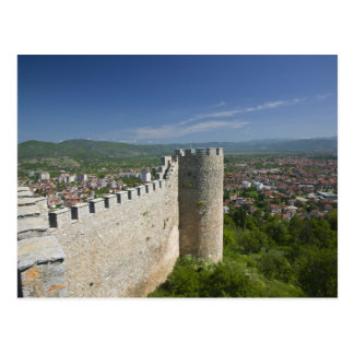Carte Postale MACÉDOINE, Ohrid. Le château de Samoil de voiture/