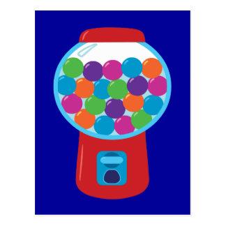Carte Postale Machine de Gumball de sucrerie