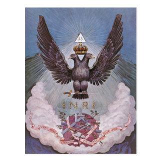 Carte postale maçonnique de symbolisme
