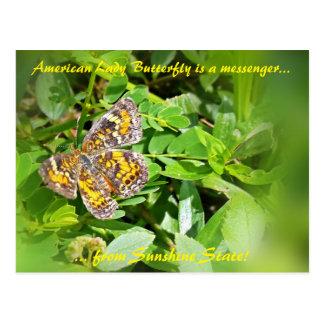 Carte Postale Madame américaine Butterfly est une messagère,