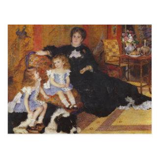 Carte Postale Madame Charpentier et ses enfants par Renoir