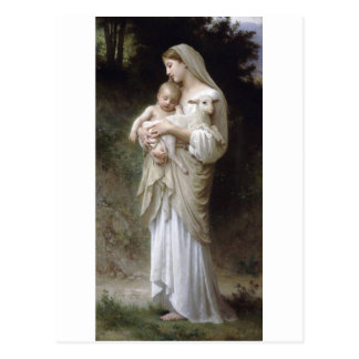 Carte Postale Madame Child Lamb d'innocence de Bouguereau