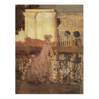 Carte Postale Madame de Konstantin Somov- par la piscine