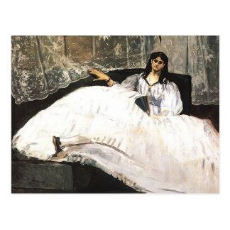 Carte Postale Madame d'Edouard Manet- avec une fan