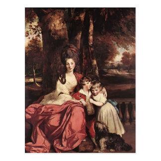 Carte Postale Madame Delm et ses enfants de Joshua Reynolds