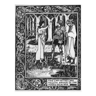 Carte Postale Madame du telleth Arthur de lac