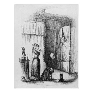 Carte Postale Madame d'une cinquantaine d'années dans la salle