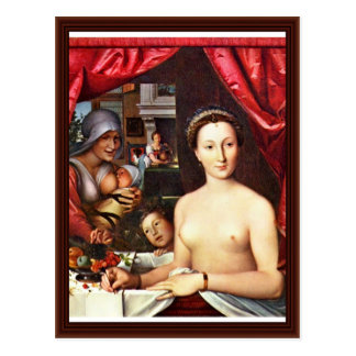 Carte Postale Madame In The Bath (portrait de Diane De Poitiers)