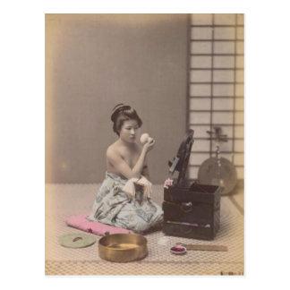 Carte Postale Madame japonaise Geisha Asian Vintage Art