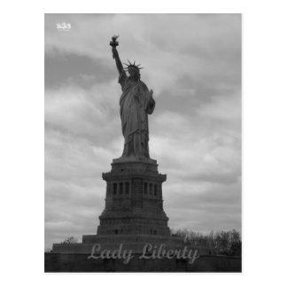Carte Postale Madame Liberty de N.Y.E