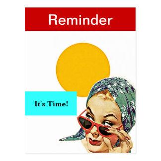 Carte Postale Madame occupée Appointment Reminder PC de rétro