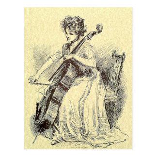 Carte Postale Madame Playing Cello
