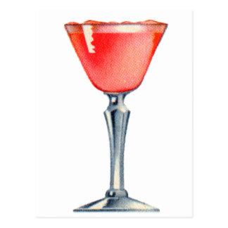 Carte Postale Madame rose de kitsch de cocktail vintage de