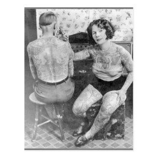 Carte Postale Madame Tattoo Artist