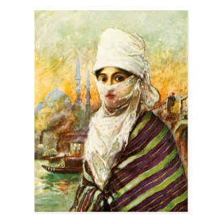 Carte Postale Madame turque dans le costume traditionnel