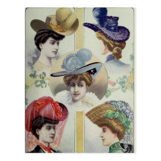 Carte Postale Madame victorienne - mode française vintage -