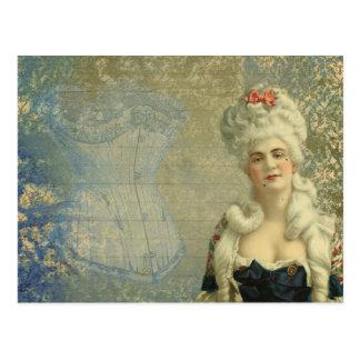 Carte Postale Madame victorienne Vintage Corset Postcard de
