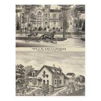 Carte Postale Maddox, résidences de Knox