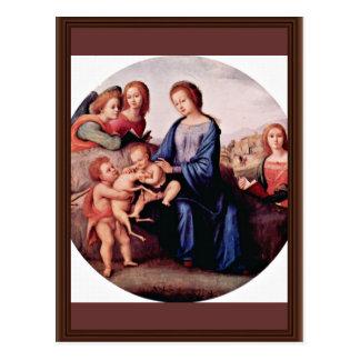 Carte Postale Madonna avec Jean-Baptist, St Margaret et