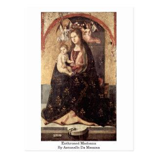 Carte Postale Madonna couronné par Antonello DA Messine