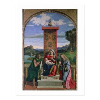 Carte Postale Madonna et enfant avec St John le baptiste et mA