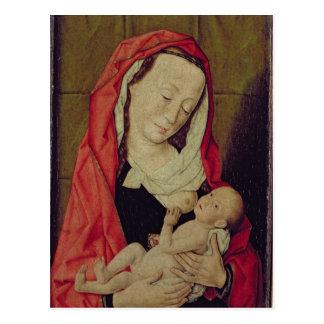 Carte Postale Madonna et enfant (panneau)