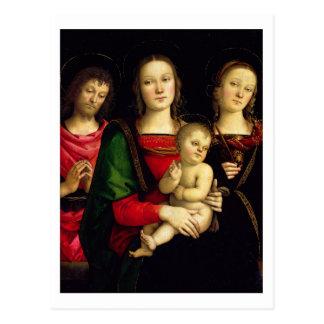 Carte Postale Madonna et l'enfant avec St John le baptiste