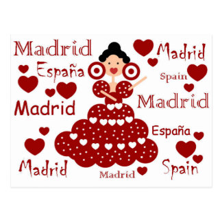 Carte Postale Madrid Espagne poupée flamande