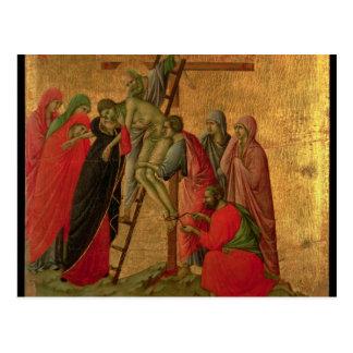 Carte Postale Maesta : Descente de la croix, 1308-11