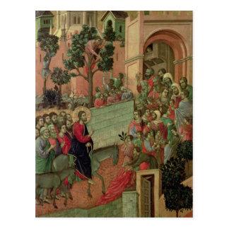 Carte Postale Maesta : Entrée dans Jérusalem, 1308-11