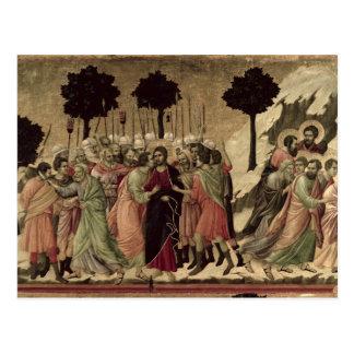 Carte Postale Maesta : Trahison du Christ, 1308-11