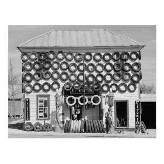 Carte Postale Magasin de pneu de Firestone, 1940