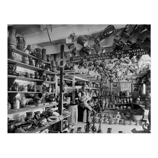 carte postale magasin de poterie de george ohr 1901. Black Bedroom Furniture Sets. Home Design Ideas