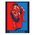 Carte Postale Magicien d'Oz de Denslow : : Courage