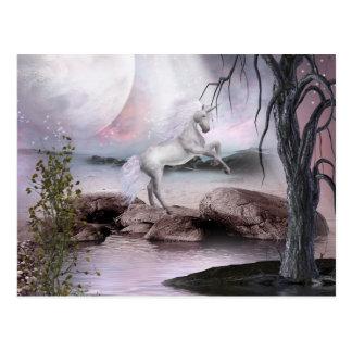 Carte postale magique de beauté de licorne